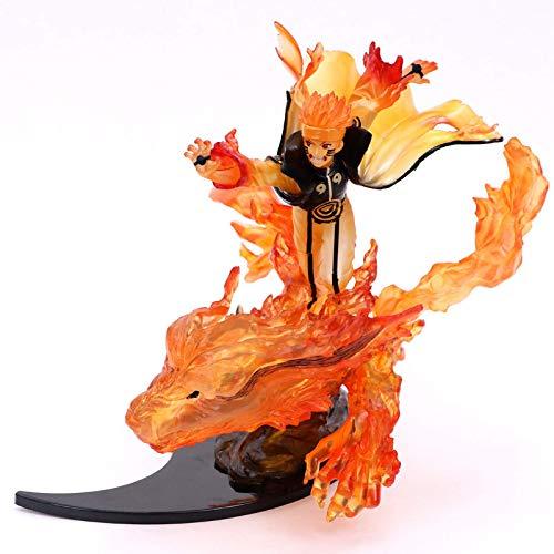 22Cm Naruto Action Figure, PVC Toy Anime Nartuo Shippuden Uzumaki Naruto Kurama Collection Figurine Toy