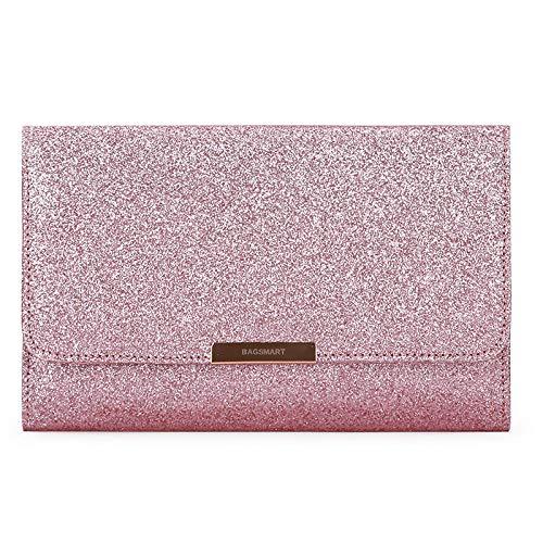 Sac à cosmétiques Sacs de Voyage Boîte à Bijoux Femmes Porte-Bijoux Collier Oreille Pochette Sac Bijoux Pack23 * 3 * 15cm-Princess_Pink_23 * 3 * 15cm