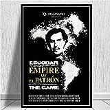 Pablo Escobar Charakter Legende Retro Vintage Poster und Drucke Malerei Wandkunst Leinwand Wandbilder für Wohnzimmer Home Decor-Rahmenlos-40X50cm