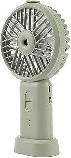 Alarmclocker8B Ventilador de pulverización portátil 2000MAh Ventilador de Mano Recargable USB eléctrico Refrigerador Aire Acondicionado Humidificador-Verde