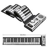 Teclado Roll Up Piano Portátil 61 Teclas Electronic Digital Hand Roll Piano MIDI Teclas suaves para niños Niños principiantes