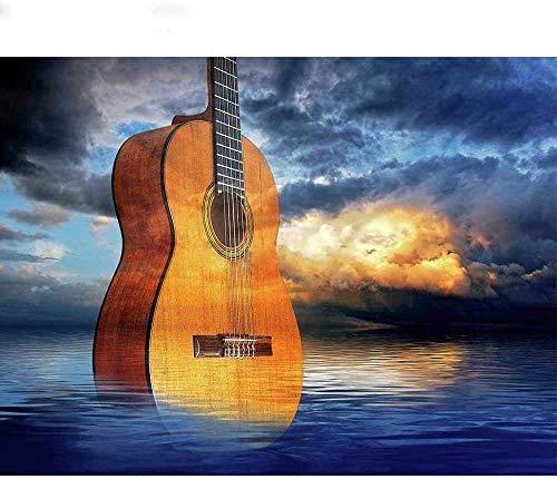 symzl Legpuzzels voor volwassenen, Home Decors Decompressie Houten puzzel, Kinderen Geweldig educatief cadeau - Enorme gitaar
