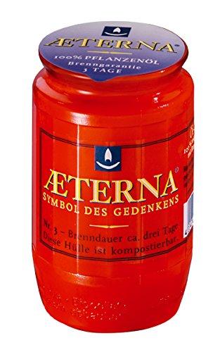 Aeterna Grablichter Nr. 3, rot, 3-tage Brenndauer (10)
