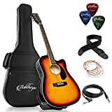 Best Acoustic Guitar Amps - Ashthorpe Full-Size Cutaway Thinline Acoustic-Electric Guitar Package Review