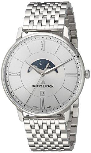 Maurice Lacroix Herren Analog Quarz Uhr mit Edelstahl Armband EL1108-SS002-110-1