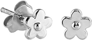 Sterling Silver XS Tiny Flower Stud Earrings
