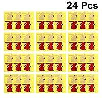 NUOBESTY 24枚イースターステッカーウサギ粘着ラベルクラフト紙シールステッカーギフト包装ステッカーパーティー好意用品