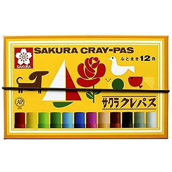 Sakura Color pastel crayon 12 colors with rubber string LP12R  japan import