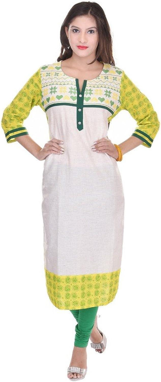 Vihaan Impex Indian Kurtis for Women Kurti Kurtas for Women Bust Size 46 Inches White Kurti