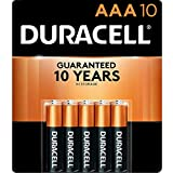 Duracell - CopperTop AAA Alkaline Batteries - long lasting, all-purpose Double A battery for household and business - 10 Count