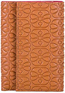 mywalit Women's Tri Fold With Simple Zip Brown
