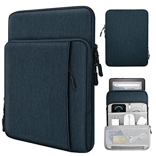 TiMOVO 8-9 Zoll Filz Tablet Hülle Kompatibel mit iPad Mini 5/4/3/2/1, Galaxy Tab A7 Lite 8.7/Tab A 8.0/Tab A 8.4, Fire HD 8 & 8 Plus 20200, Multi Fächern Schutzhülle, Indigo