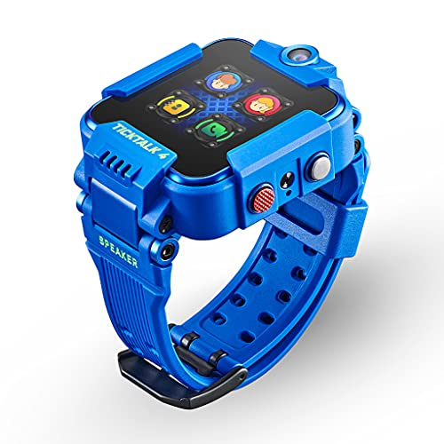 TickTalk 4 Unlocked 4G LTE Kids Smartwatch Phone withCalling, Messaging, GPS Locating, 2X Cameras & Free Streaming Music