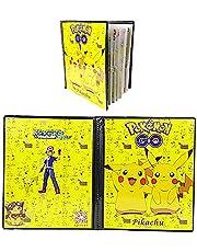 Porta Tarjetas de Pokemon Compatible con Carpeta Carpeta Pikachu Coleccionable de Tarjetas coleccionables GX EX Tarjetas de Entrenador Álbumes 20 páginas Pueden Contener hasta 160 Tarjetas