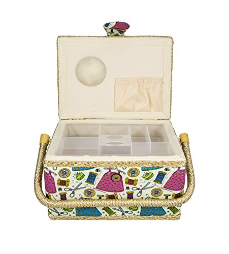 Medium Sewing Basket, with Insert and Sewing Notions from Tidy Crafts