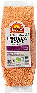 Lentejas Rojas Para Purés BIO Biogra, 500 gr
