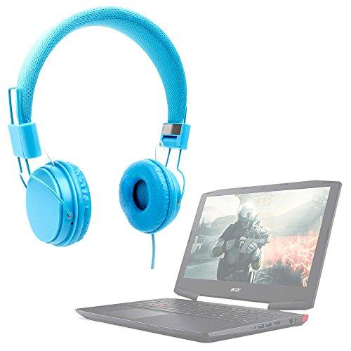 DURAGADGET Auriculares De Diadema Color Azul para Portátil...