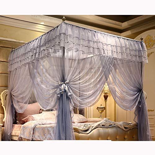 KE & LE Bed luifel gordijn muggennet om op te hangen, prinses stijl slaapkamer decoratie voor volwassenen meisjes boys vliegennet Folding Design met bodem