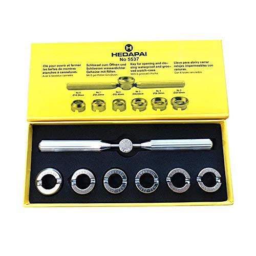 Gobesty Kit doutils de réparation de boîtier arrière de Montre, Outil de réparation dhorloger, avec Rangement Étui Horloger Réparation Outil Kit,pour Rolex Ouverture et Fermeture de Dos de Montre