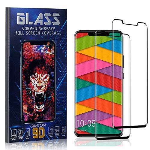 GIMTON Displayschutzfolie für Huawei Mate 20 Pro, 3D Touch, Anti Kratzen, Keine Luftblasen Premium Displayschutz Schutzfolie für Huawei Mate 20 Pro, 2 Stück