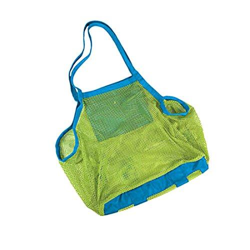 Sable loin Plage Maille Sac de plage enfants Jouets Sacs de serviette bébé jouet Collection Sac Couleur aléatoire