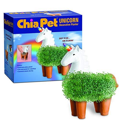 Chia CP437-01 Pet Unicorn Decorative Pottery Planter, Easy to Do and Fun to Grow