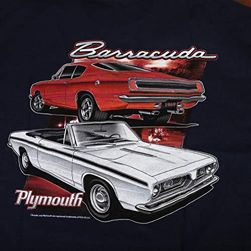 David Carey Originals Officially Licensed Plymouth Barracuda Tee - 3X - Blue