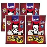 ライオン (LION) ニオイをとる砂 7歳以上用 猫砂 5L×4袋 (ケース販売)