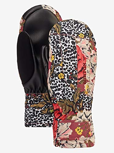 Burton Profile Under Mitt Ski Gloves Large Cheetah Floral