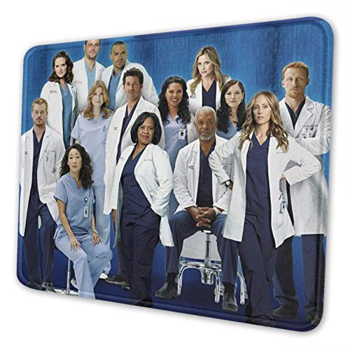 Doctors-Grey's Anat-Omy Rubber Mouse Pad Non-Slip Waterproof Mouse Pad, for Laptops, Computers & Pc 7 X 8.6 in