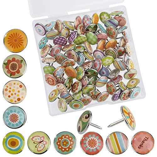 Puntine da Disegno Decorativa Puntine Creative Metallo per Fai Da Te Bacheca Lavagna Sughero Foto Muro...