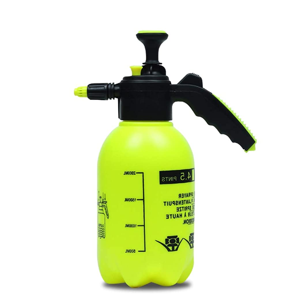 DSWDA 2L Pump Pressure Water SPRAYERS Garden Watering CAN - Handheld Garden Sprayer for Water Chemicals and Pesticides (Yellow)