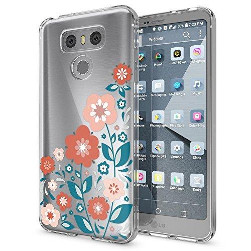 NALIA Funda Carcasa Compatible con LG G6, Motivo Design Movil Protectora Ultra-Fina Silicona Cubierta, Goma Gel Estuche Telefono Bumper Ligera Cover Smart-Phone Case, Designs:Spring Flowers