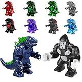 Set of 10 Godzilla Vs King Kong Action Figures,...