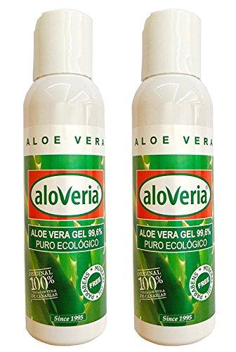 PURES ALOE GEL 99,6% - ALOVERIA® Aloe Vera Pur, kaltgepresst aus Gran Canaria 100ml x 2 Einheiten