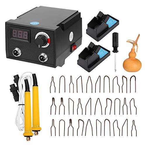 KKmoon Pirograbador Madera 100 W, con Pantalla Digital, Cabezales Bolígrafo Calefactor 30 piezas