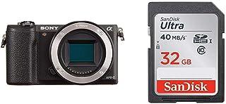 ソニー SONY ミラーレス一眼 α5100 ボディ ブラック ILCE-5100-B + SanDisk エコパッケージ サンディスク ウルトラ SDHCカード 32GB Class10 UHS-I 読取り最大40MB/秒 SDSDUNH-032G-GHENN 10年保証