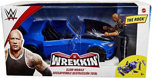 Collector WWE WREKKIN SLAM Mobile Komplett mit exklusiver Der Rock -Figur, ca. 15 cm