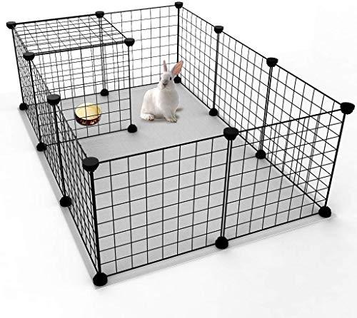 Haustier Laufstall, Kleintierkäfig, tragbar, welpenauslauf Laufstall, Zaun für kleine Tiere, Meerschweinchen, Kaninchen, Zwinger, Käfig, Kundengerechte Laufstall-Kisten-Einschließung 35*35, 12 PCS
