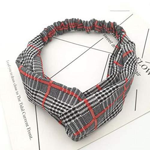 Dames hoofdbanden 2 stuks, zwart-wit-gestreepte rode strepen elastische band kruis handgeknoopt licht zacht elastische hoofdband haaraccessoires stijlvolle mooie voor yoga, pilates en spor