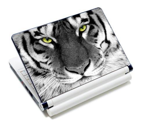 Luxburg® Design Aufkleber Schutzfolie Skin Sticker für Notebook Laptop 10 / 12 / 13 / 14 / 15 Zoll, Motiv: Tigeraugen