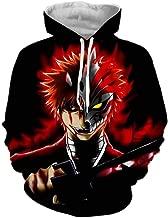 VEPOSE Unisex Bleach SAO Fairy Tail Inuyasha Hoodie Sweatshirts