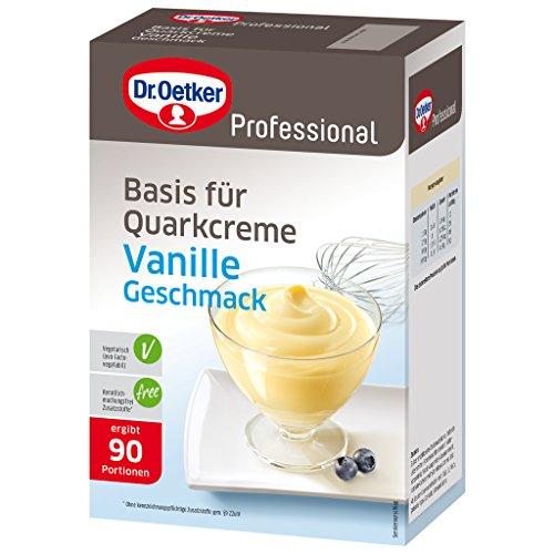 Dr. Oetker Professional Basis für Quarkcreme mit Vanille-Geschmack, Dessertpulver in 1 kg Packung