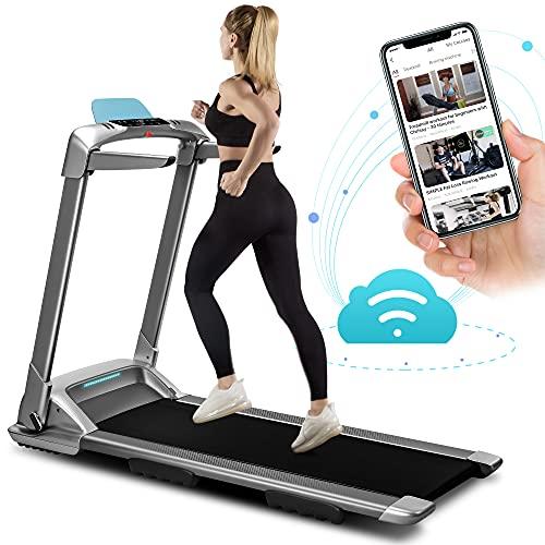 OVICX Q2S Folding Portable Treadmill Compact Walking Running Machine for...