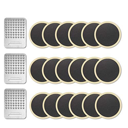 NIERBO Kit de Parche de Neumático para Bicicleta Autoadhesivo Reparación de Pinchazos MTB con Parches y Rallador (Kit B)
