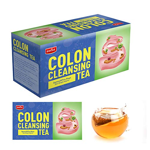Natural Detox Tea Colon Cleanse Slimming Tea Bags Herbal Weight Loss Tea for Belly Fat and Bloating Women Men - Detox Tea Individual Packets Cleansing Body Toxins