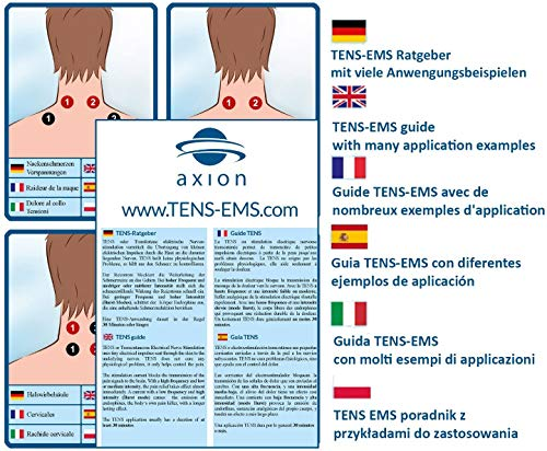 axion TENS EMS Kombi-Gerät - TENS-Gerät und EMS-Trainingsgerät in Einem - Professionelles 4-Kanal Gerät STIM-PRO X9+