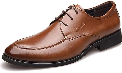 KTYXGKL Chaussures Habillées pour Hommes, Affaires Et Chaussures Chaussures Décontractées à Lacets en Cuir à Lacets Bottes en Cuir pour Hommes (Couleur   marron, Taille   39)  de gros