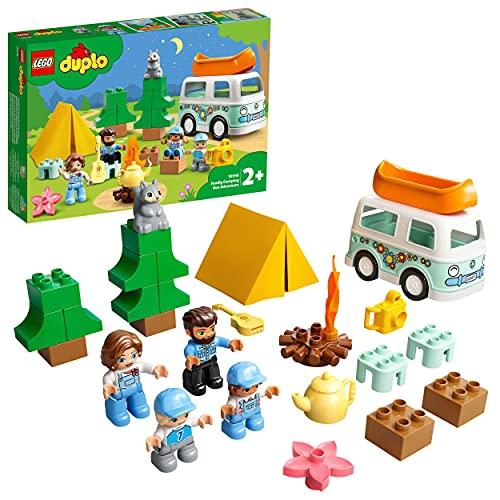 LEGO 10946 DUPLO Familienabenteuer mit Campingbus, Wohnmobil Spielzeugauto, Lernspielzeug ab 2 Jahre, Kinderspielzeug