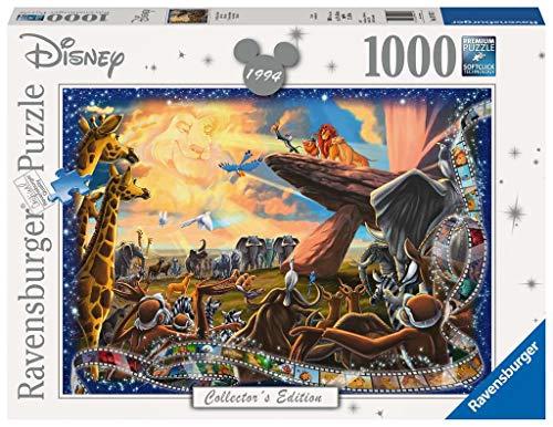 Ravensburger-19747 7 Puzzle, Disney Classic, El Rey Ón, Multicolor, 1000 Piezas (19747)